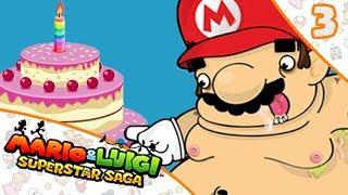 MARIO TIENE PROBLEMAS DE OBESIDAD   Mario & Luigi SuperStar Saga #3
