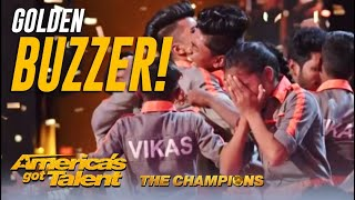 V. Unbeatable: The Indian Dance Crew BACK For a Second Chance Get Golden Buzzer! AGT Champions
