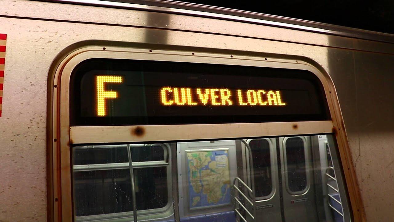 Coney Island Bound R160A F Train @ 169th Street Station ...