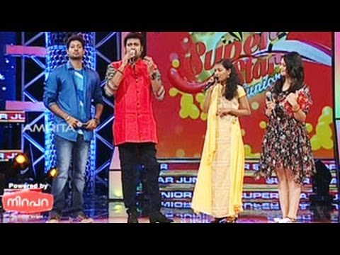 Super Star Junior- 5 | Episode - 46 | Songs by  Ridhukrishna & Anjana | Monj K Jayan as Guest