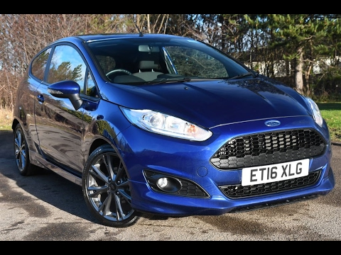 Used Ford Fiesta 1 0 Ecoboost St Line 3dr Deep Impact Blue