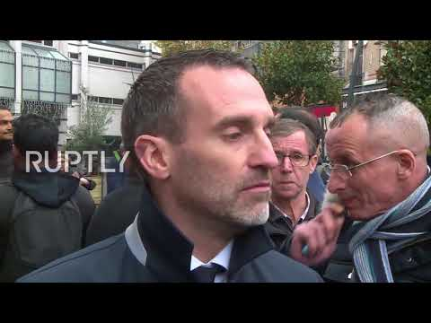 France: Muslims gather in Clichy to peacefully protest against street prayer ban