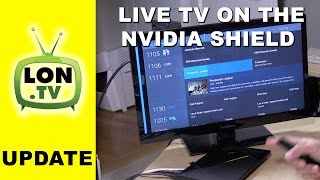 Nvidia Shield Android TV - Watching Live TV with Live Channels with HDHomerun