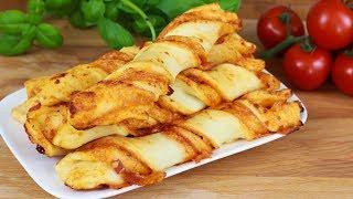 Leckere Pizzastangen - Schnelles Fingerfood / Pizza Stangen