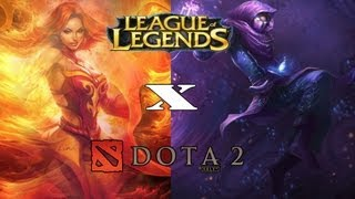 Diferenças entre League of Legends e Dota 2!