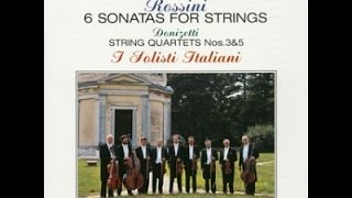 ロッシーニ:弦楽のためのソナタ集(全6曲)、他  / イタリア合奏団