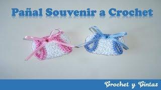 Pañal souvenir a crochet (ganchillo)