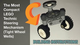 A Lego Car With Differential Mechanism And Steering System 110925