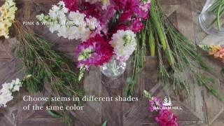 Creating an Arrangement with Artificial Flower Stems from Balsam Hill™