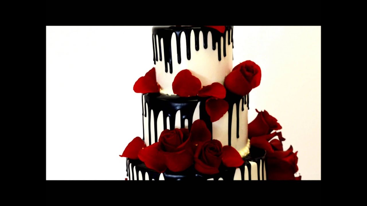 Roses And Chocolate Theme Wedding Cake You