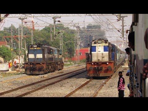 ZAMANIA Departure & OVERTAKE    13237 PATNA - KOTA Express !!