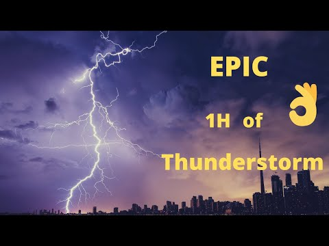 EPIC Thunderstorm & Rainstorm Sounds For Relaxing | sleepy sound 1 Hour.