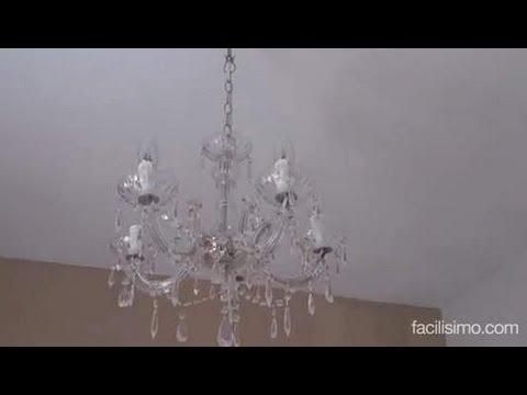 lamparas de techo araña Cmo Poner Una Lmpara De Techo Facilisimocom