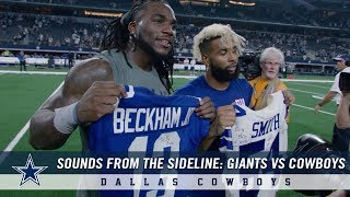 Sounds From The Sideline: New York Giants vs Dallas Cowboys | Dallas Cowboys 2018