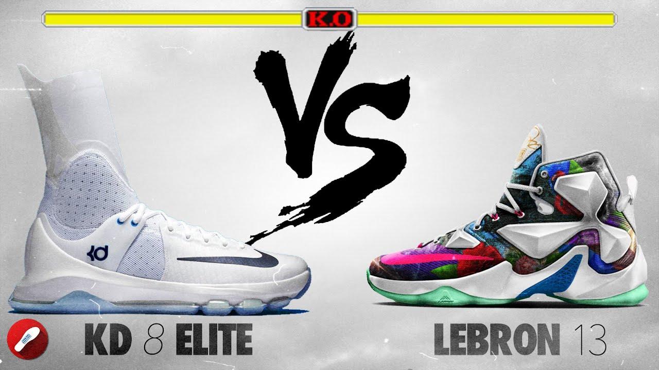 Nike Kd 8 Elite vs Nike Lebron 13