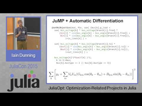 JuliaOpt  Optimization related projects in Julia