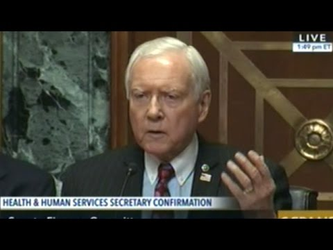 Sen Hatch Clearly Irritated Democrats Are Acting Like Tom Price Is Not Qualified To Be HHS Secretary