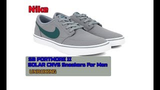 new concept 7ffd1 63c83 Nike SB PORTMORE II SOLAR CNVS Sneakers For Men   Unboxing and Review