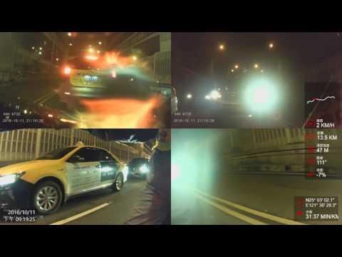 """[2016.10.11] Taiwan Motorbike """"Illegal riding"""" Across Taipei City via Expressway"""