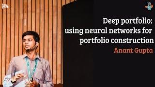 Deep portfolio: using neural networks for portfolio construction