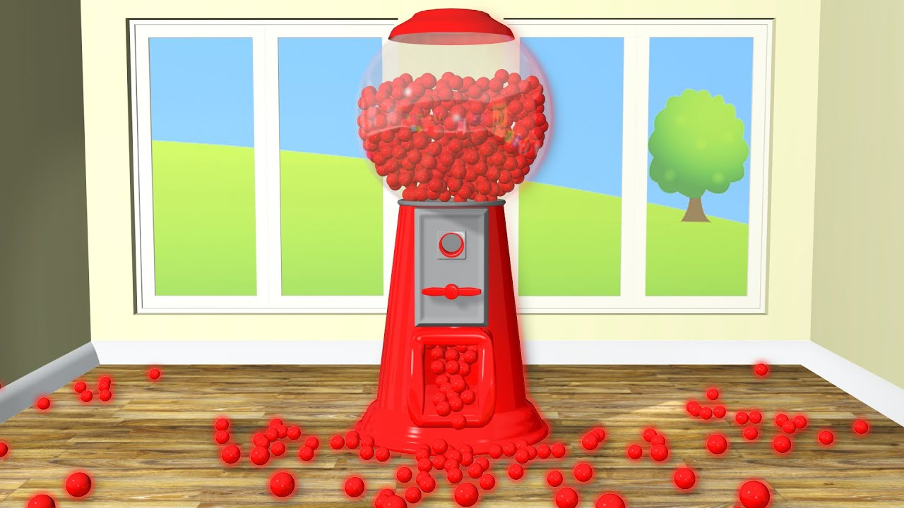NEW Giant Gumball Machine 3D for Children to Learn Colors Kids Balls ...
