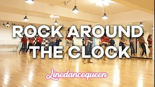 Rock Around The Clock Line Dance (Beginner) Tony Chapman Demo & Count