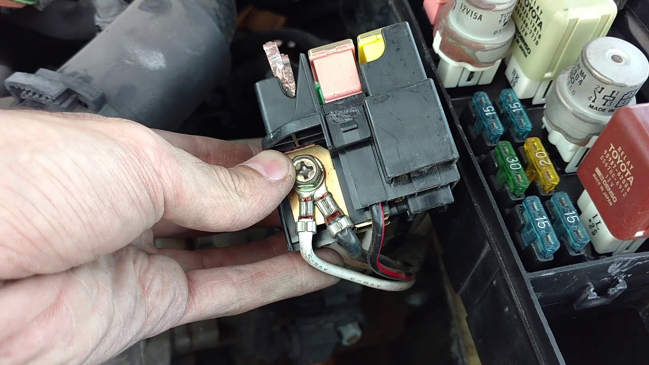 how to replace the 100 amp alternator fuse 1991 celica [ 1280 x 720 Pixel ]