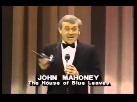 John Mahoney wins 1986 Tony Award for Best Featured Actor in a Play