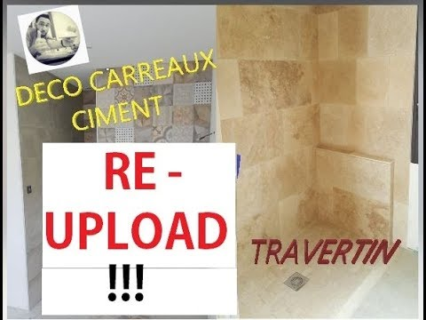eric le carreleur re upload id e sdb d co carrelage carreaux ciment travertin youtube. Black Bedroom Furniture Sets. Home Design Ideas
