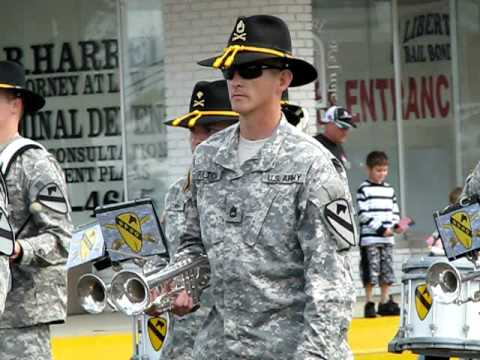 1st Cavalry Division Band, Veterans' Day Parade, Killeen TX, Nov 11, 08