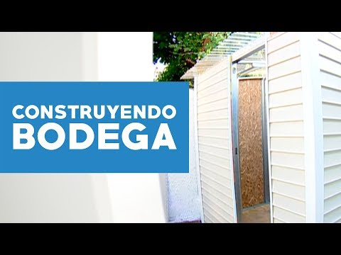 C mo construir una bodega youtube for Casa para guardar herramientas
