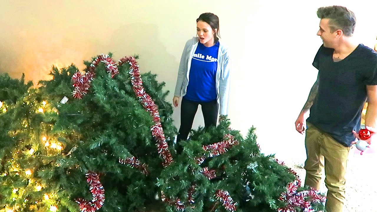 DESTROYED THE CHRISTMAS TREE!! - YouTube