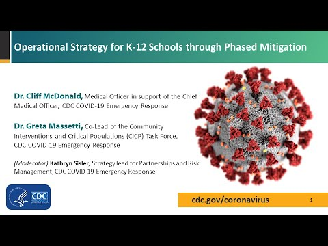 Operational Strategy for K12 Schools through Phased Mitigation