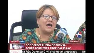 El COE ofrece rueda de prensa sobre tormenta tropical Isaac