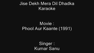 Jise Dekh Mera Dil Dhadka - Karaoke - Phool Aur Kaante (1991) - Kumar sanu
