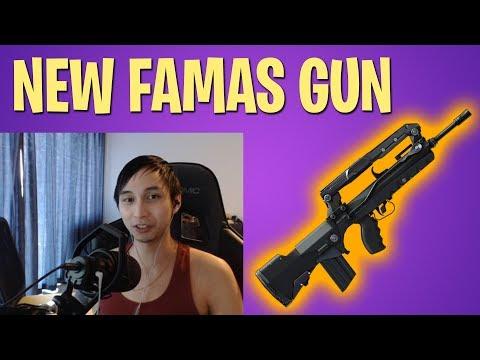 NEW FAMAS BURST RIFLE GUN - SingSing Fortnite Battle Royale