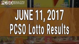 Lotto Result June 11, 2017 (6/58, 6/49, Swertres & EZ2)
