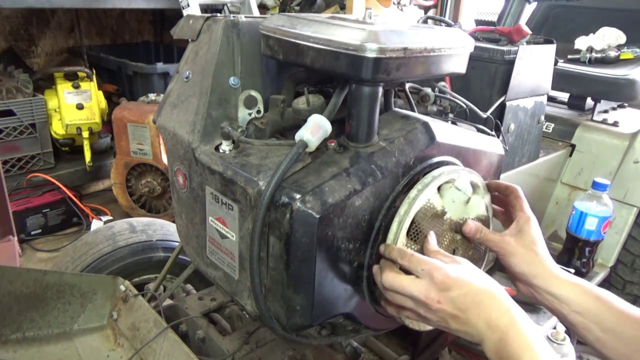 Briggs And Stratton Starter Replacement On A Horizontal 18hp Overheating Problem