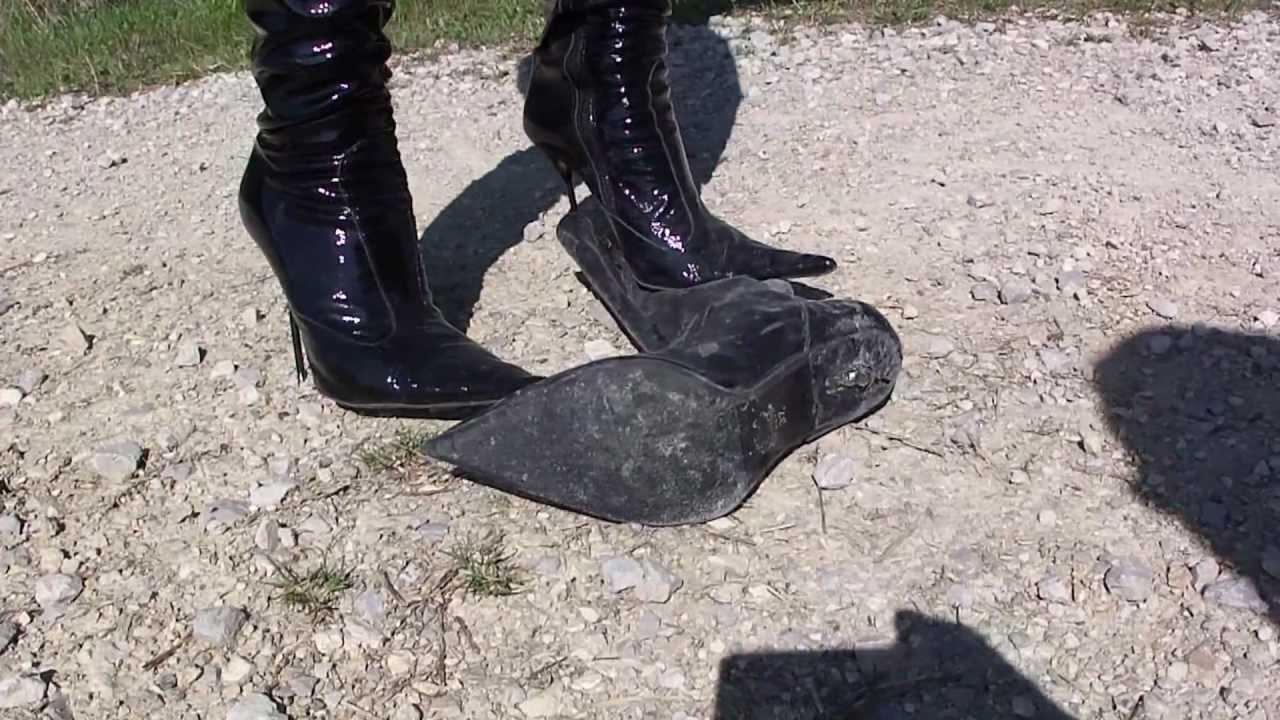Boots crush fetish