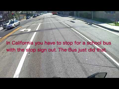 Idiot Honks at me with a Stopped School Bus