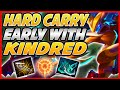HOW TO HARD CARRY EARLY GAME WITH KINDRED! STOMP RANKED WITH CRIT KINDRED JUNGLE - League of Legends