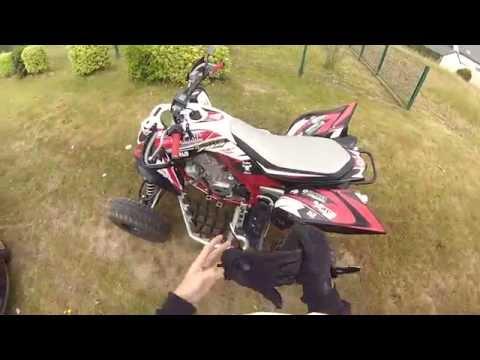 Quad Ride Yamaha 700 Raptor GoPro + Top Speed 137km/h Stock engine
