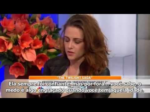 Kristen Stewart fala sobre seu relacionamento com Robert e Amanhecer - Parte 2 no Today Show