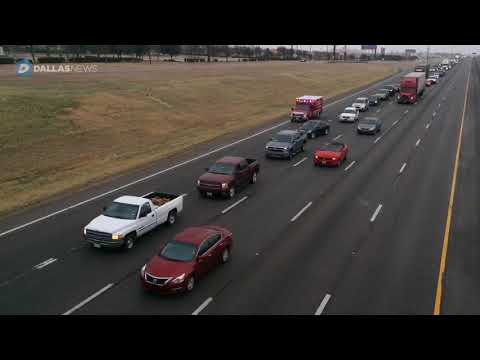 Icy roads slow traffic throughout Dallas