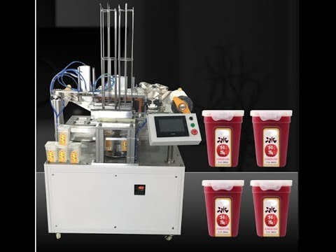 Auto Rotary Square Tray Juice Filling Sealing Machine