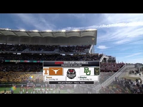 Texas Longhorns vs Baylor Bears  12-5-2015