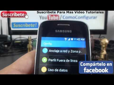 Samsung Galaxy Pocket 2 compartir internet desde mi celular android español