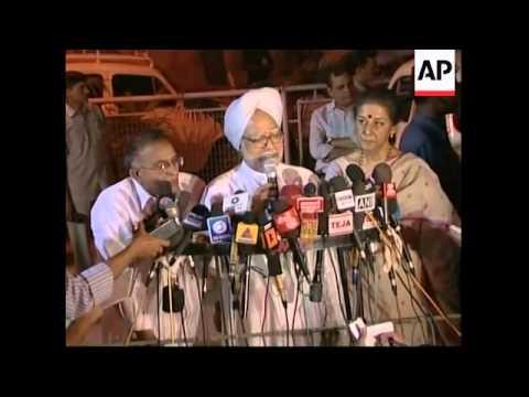 Gandhi meets left-wing allies in new coalition