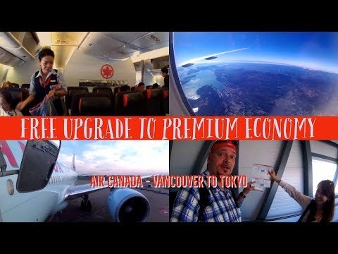 FREE UPGRADE to PREMIUM ECONOMY with AIR CANADA! Vancouver to Tokyo