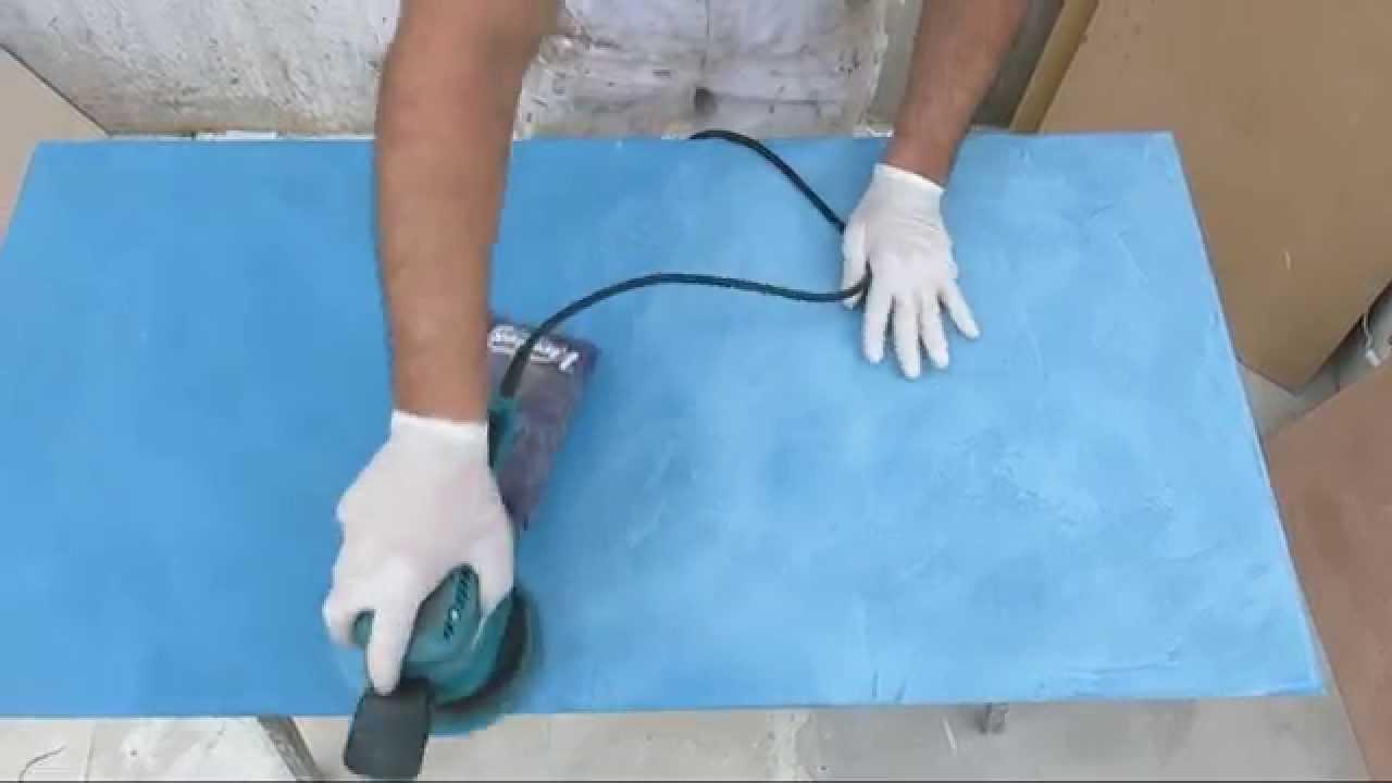 Lijar microcemento y aplicar sellador poliuretano topsealer wt youtube - Como aplicar microcemento ...